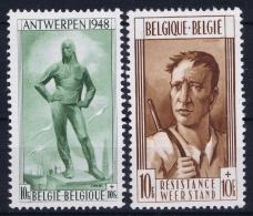 Belgium: OBP Nr 785 - 786  MNH/**/postfrisch/ Neuf Sans Charniere 1948 - Belgien