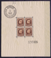 Belgium: OBP Block Nr 1 MNH/**/postfrisch/ Neuf Sans Charniere  1924 , 2x Signed/ Signé/signiert/ Approvato - Blocks & Sheetlets 1924-1960
