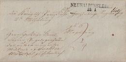 Preussen Brief L2 Neuhaldensleben 23.1. Gel. Nach Magdeburg Geprüft Meier BPP - Preussen