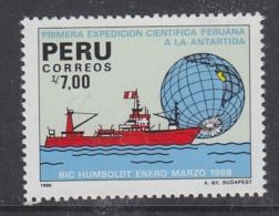 Peru 1988 1st Scientific Antarctic Expedition 1v ** Mnh (32614S) - Peru