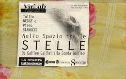 X CD ROM TULLIO REGGE E PIERO BIANUCCI NELLO SPAZIO TRA LE STELLE VIRLAB  DISCO DI BACKUP - CD