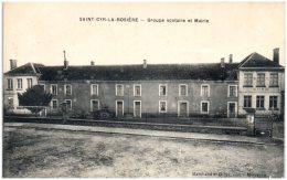 61 SAINT-CYR-la-ROSIERE - Groupe Scolaire Et Mairie    (Recto/Verso) - Frankrijk