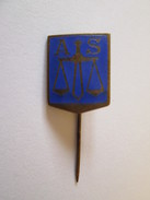 Romanian Regalist Badge The Association Of Layers 40s,size=16 X 13 Mm - Autres