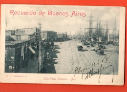 IBQ-13  Recuerdo De Buenos Aires. Calle Pedta Mendoza. Boca  Used In 1903 To Roubaix France. Pioneer. - Argentina