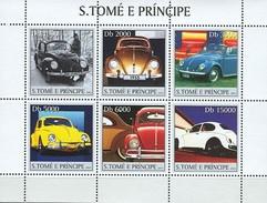 SAO TOME E PRINCIPE 2003 SHEET VOLKSWAGEN CARS AUTOS COCHES St3137 - Sao Tomé E Principe