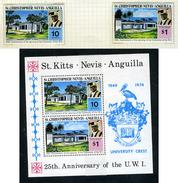 1974 - ST. CHRISTOPHER, NEVIS & ANGUILLA  - Mi. Nr. 276/277 Block 2 - NH - (CW2427.40) - St.Kitts E Nevis ( 1983-...)