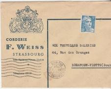 Enveloppe Commerciale 1948 /  Corderie WEISS / 67 Strasbourg / Gandon 719 B Non Oblitéré - Autres