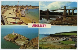 ANGLESEY : MULTI-VIEW / POSTMARK SLOGAN - COLWYN BAY INFORMATION BUREAU, 1973 - Anglesey