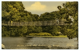 BUILTH WELLS : THE SUSPENSION BRIDGE - Breconshire