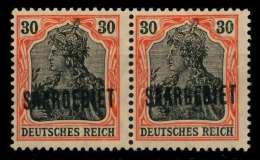SAARGEBIET GERMANIA Nr 36 Ungebraucht WAAGR PAAR X7A12FE - Ungebraucht