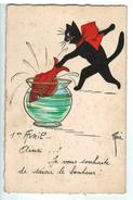 15810   Cpa  1er Avril , Ainsi ..! Je Vous Souhaite De Saisir Le Bonheur , Iluustrée Par René ! 1931 - 1° Aprile (pesce Di Aprile)