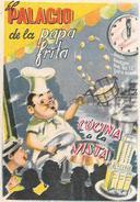 EL PALACIO DE LA PAPA FRITA RESTAURANT BUENOS AIRES CARTE PUBLICITAIRE CIRCA 1940 RARISIME TRES BON ETAT L'ARGENTINE - Hotel's & Restaurants