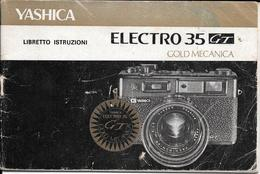 YASHICA ELECTRO 35 GT GOLD MECANICA LIBRETO ISTRUZIONI 28 PAGINAS BON ETAT - Materiaal & Toebehoren