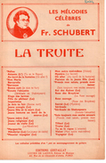 La Truite  (p : Bélanger, M : Fr. Scubert), 1945 - Classical