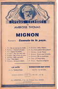 Romance De Mignon (p : M. Carré & J. Barbier  M : Ambroise Thomas), 1945 - Opera