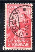 3RG797 - REGNO 1937 ,  20 Cent N. 429  . Illustri  Stradivari - Gebraucht