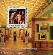 SAO TOME E PRINCIPE 2003 SHEET ANNIVERSARY ST. PETERSBURG ART PAINTINGS ARTE PINTURAS St3316 - Sao Tome And Principe