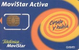 SPAIN - Yellow Spiral Telefonica Movistar, Mint