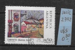 ARGENTINA ARGENTINE JALIL GOTTIG NR. 2392 OBLITERE AÑO 1988 CALLE CAMINITO BARRIO DE LA BOCA BUENOS AIRES EVOCA AL CAMIN - Argentine