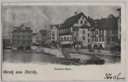 Gruss Aus Zürich - Rathaus-Quai - ZH Zurich