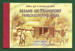 INDIA 2017 Inde Indien - Means Of Transport Through Ages - Prestige Booklet With 5 MINIATURE SHEETS - MNH ** As Scan - Unused Stamps