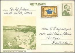 2590/ Turquie (Turkey) Entier Stationery Carte Postale (postcard) 1972