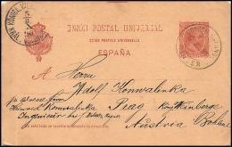 2607/ Espagne (spain) Entier Stationery Carte Postale (postcard) N°26 Pour Autriche (Austria) 1896 - Interi Postali