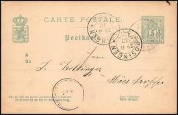 2979/ Luxembourg (luxemburg) Entier Stationery Carte Postale (postcard) N°49 Hosingen 1887