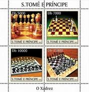 SAO TOME E PRINCIPE 2004 SHEET CHESS ECHECS XADREZ AJEDREZ SCHACH SCACCHI St4325 - Sao Tome And Principe
