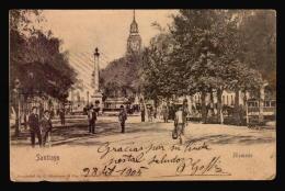 Chile Santiago Tarjeta Postal Tramway Vintage Original Ca1900 POSTCARD CPA AK (W4_3331) - Chile