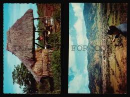 Nicaragua Nativos Arqueologia 2 Tarjeta Postal Tipo Foto RPPC  Vintage Original Ca1960 POSTCARD CPA AK (W4_3333) - Nicaragua