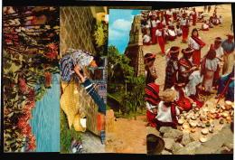 Guatemala Ethnic  Nativos Arqueologia 4 Tarjeta Postal Tipo Foto RPPC  Vintage Original Ca1960 POSTCARD CPA AK (W4_3334) - Guatemala