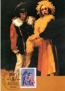 """BRD Maximumkarte """"100 Jahre Bund Deutscher Amateurtheater"""" Mi 1626 ESSt 13.8.1992 BERLIN 12 - BRD"""