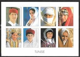 2000 Tunisia Eyes, Many Faces, Mailed To USA - Tunisia