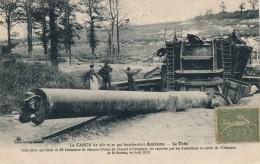 G111 - MILITARIA - Le Canon De 380 Mm Qui Bombardait Amiens - Le Tube - Equipment