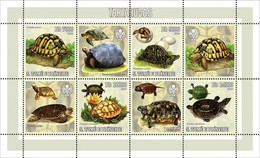 SAO TOME E PRINCIPE 2006 SHEET TURTLES TORTUES TARTARUGAS TORTUGAS TARTARUGHE SCHILDKROTEN REPTILIEN REPTILES St6210a - Sao Tome And Principe