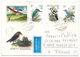 """Hongrie - Enveloppe Affr Composé """"oiseaux + Avion"""" - 1990 - Brieven En Documenten"""