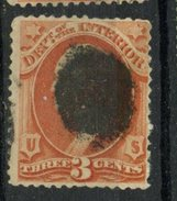 USA 1873 2 Cent Department Of Interior Issue #O17 - Officials