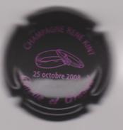 Capsule Champagne KINT René ( Nr ; Amélie Et Arnaud 2008 , Noir Et Rose ) {S17-17} - Champagne