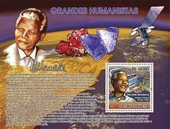 SAO TOME E PRINCIPE 2007 SHEET GREAT HUMANISTS NELSON MANDELA NOBEL PRIZE MINERALS ESPACIO SPACE ESPACE MINERAUX St7402b - Sao Tomé Y Príncipe