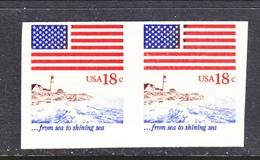 US 1891 A      **    IMPERF.  PAIR - Errors, Freaks & Oddities (EFOs)