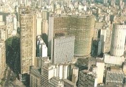 BR - São Paulo - Vista Parcial Com Os Edificios Italia, Copan E Hilton Hotel Em Primeiro Plano - Brasil Turistico N° 09 - São Paulo