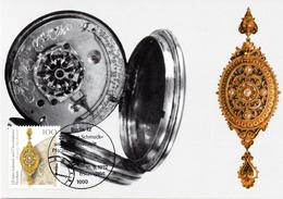 """BRD Maximumkarte """"225 Jahre Schmuck- Und Uhrenindustrie, Pforzheim"""" Mi 1628 ESSt 10.9.1992 BERLIN 12 - BRD"""