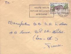 Flamme Haute-Volta, Refuge De La Nature Africaine (lettre De Bobo Dioulasso à Nantes, 31/3/1964 Timbre Campement D'Arly) - Haute-Volta (1958-1984)