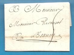 Paris Pour M. CHAVANSOT à BEAUNE (Cote D'Or) - 1755 - Marcophilie (Lettres)