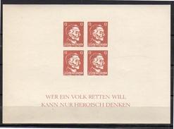 Hitler Block Forgery / Reprint MNH Very Fine (r16) - Blocks & Kleinbögen