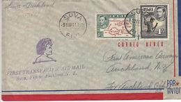 Fiji: GVI Cover, First Transatlantic Air Mail, Suva To Auckland, 9-11 Nov 1941 - Fidschi-Inseln (...-1970)