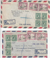 Jamaica: Two GVI Commercial Covers, General Industrial Agencies, 1955 - Jamaica (...-1961)