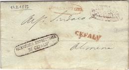 SICILIA - PREFILATELICA DA CEFALU' 1837 - 1. ...-1850 Prefilatelia