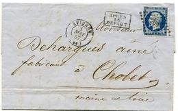 VAUCLUSE De AVIGNON PC 209 Sur N°14 Sur LAC De 1857 - Marcophilie (Lettres)